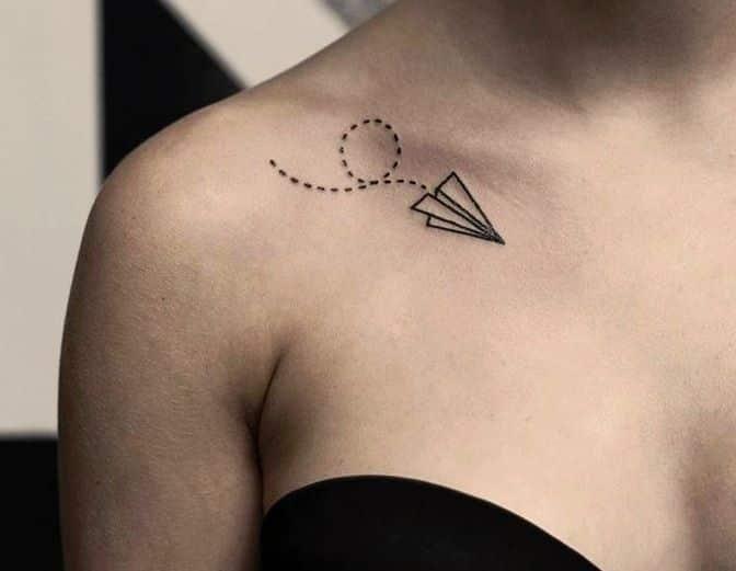 73 Tatuajes En La Clavicula Delicados Y Pequenos Mujeres Femeninas