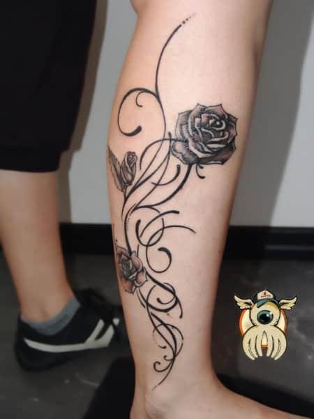 15 originales tatuajes para la pierna de las mujeres bien ...