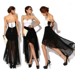 Vestidos blanco y negro de fiesta 2