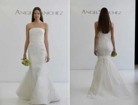 a5a560ebba Excelente diseño ultra ajustado de un vestido de casamiento para dar pasos  cortos
