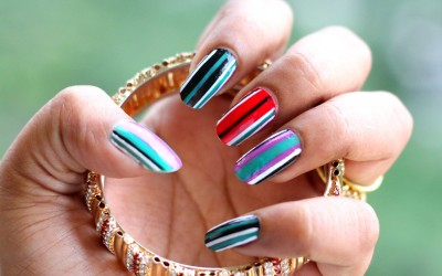 multi color nail art wallpaper