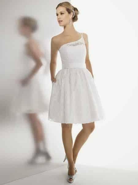 vestido de novio corto