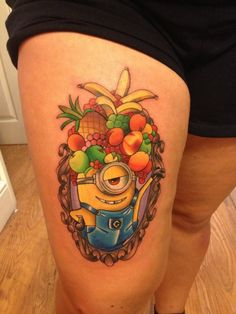 tatuaje-minions-frutas