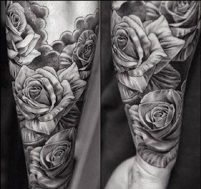 tatuajes para hombres de rosas en el brazo