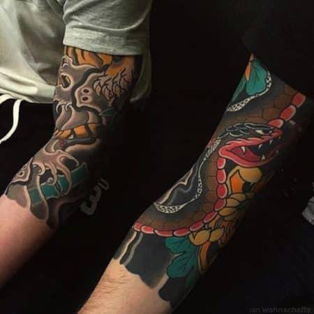 tatuajes japoneses en el brazo hombres