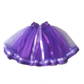 tutu para ninas color violeta