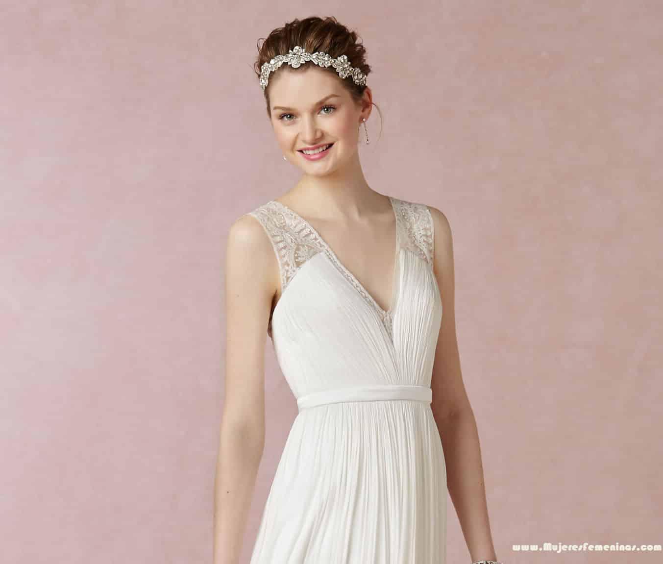 72610546d Los 28 mejores vestidos de novia para una boda civil - Mujeres Femeninas