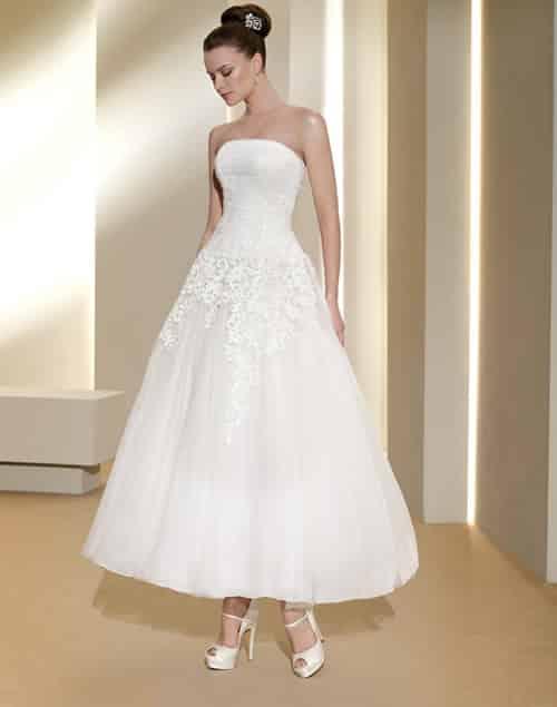 Vestido de novia que se transforma en corto