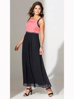vestido-largo-de-fiesta-bicolor-con-pedreria-negro-coral