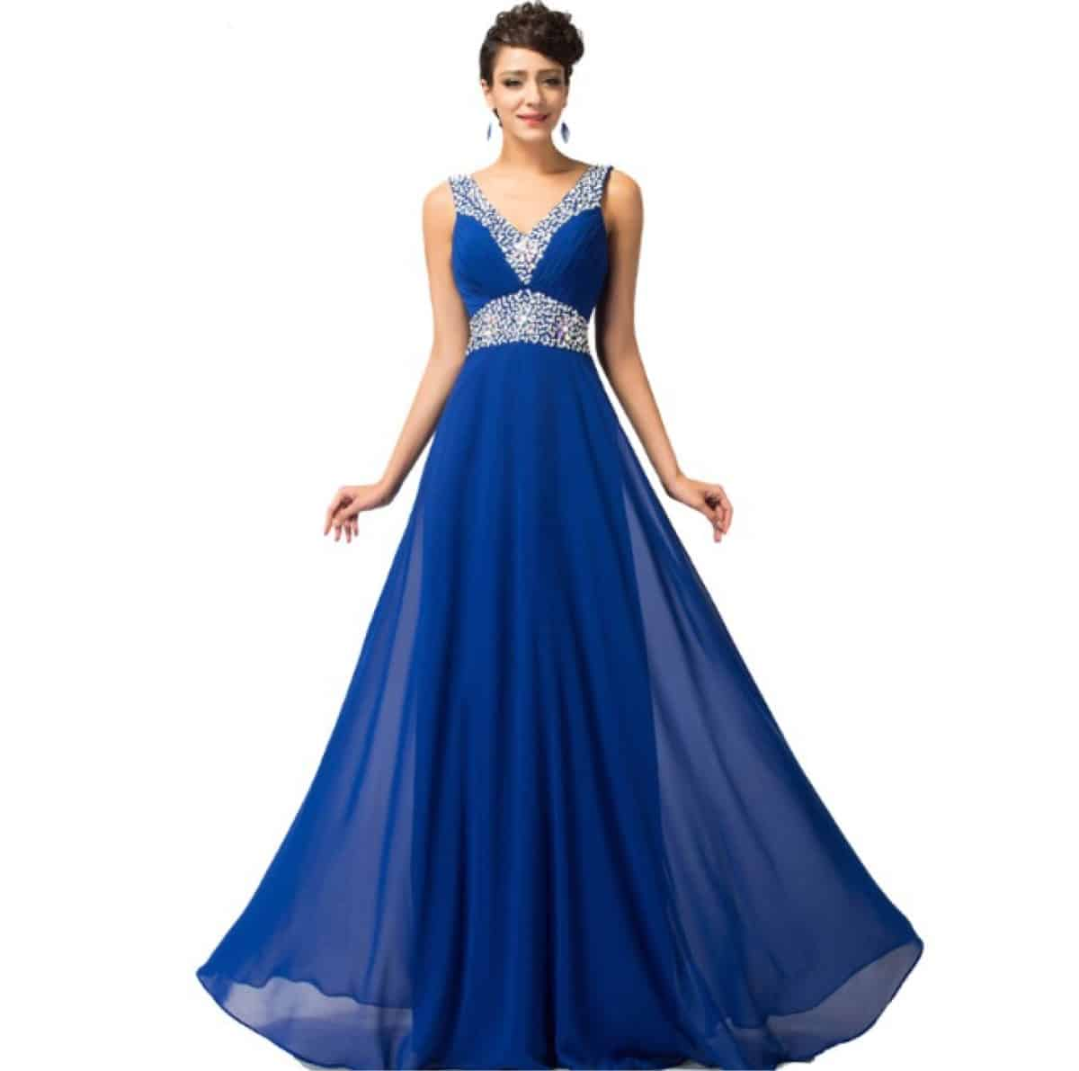 27ac180a822 El vestido azul francia o gris es muy buena opción para una fiesta
