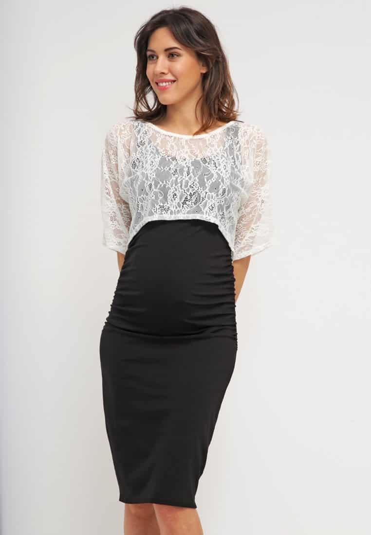 d163bddae Diseño de moda un tanto ajustado pero que para una chica embarazada con una  barriga pequeña puede ser ideal con esta pollera