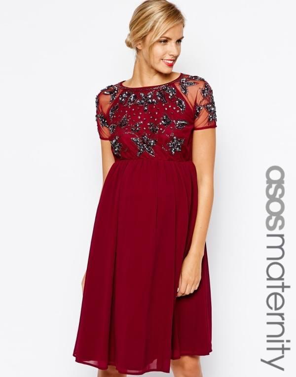 c87b442460b El color rojo le sienta muy bien en este vestido asos estilo maternity que  puede servir para una fiesta en la playa