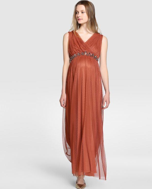 584c193fe El color rojo le sienta muy bien en este vestido asos estilo maternity que  puede servir para una fiesta en la playa