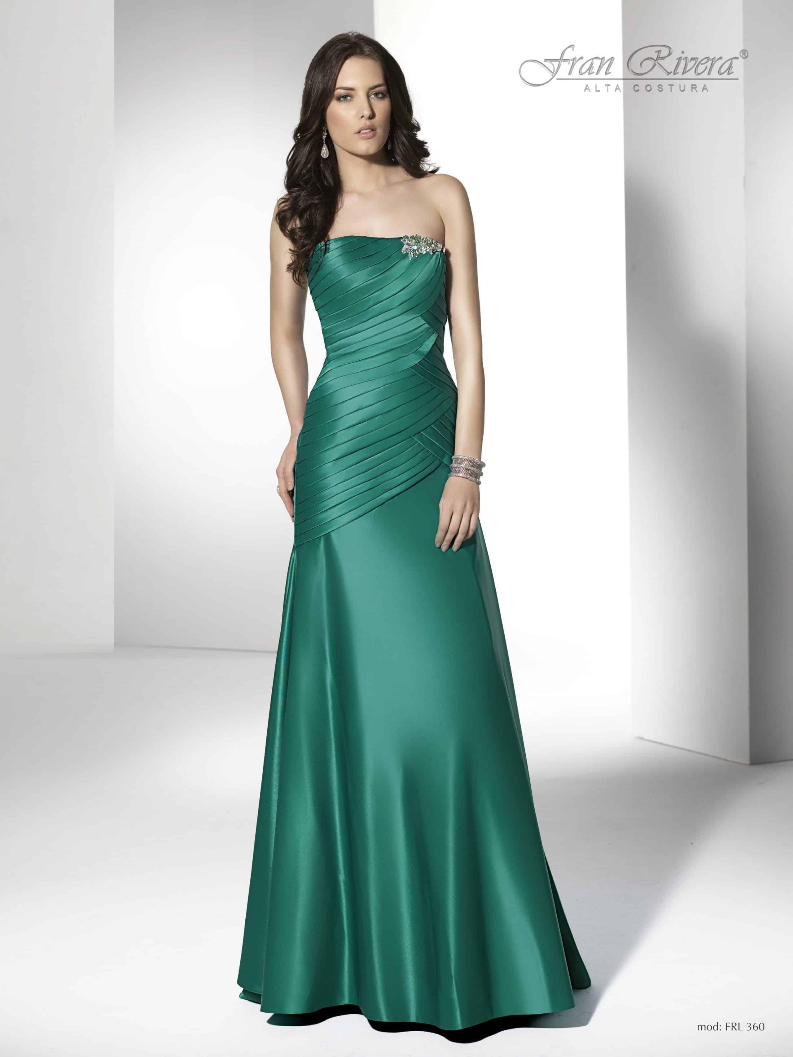 Vestidos de fiesta noche verde