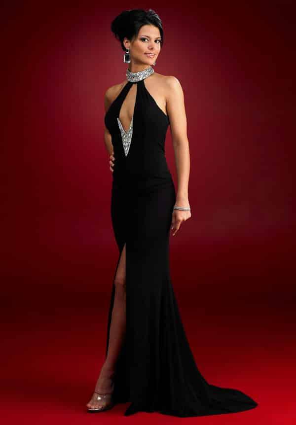 Vestido negro para fiesta noche