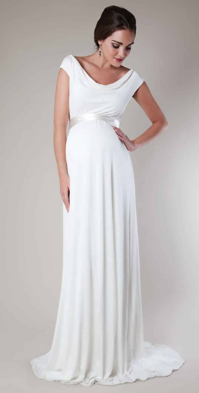 Vestido blanco largo para fiesta