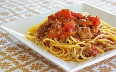 spaghetti salsa tomate carne